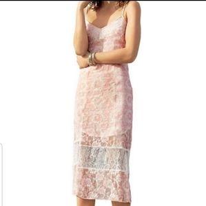 BCBGeneration Lena Midi Strap Dress NWT Size 6